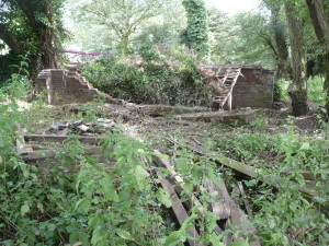 Boathouse ruins in 2009