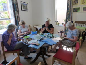 Needlework group in action