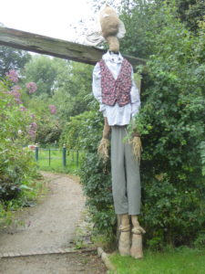 The BFG guards the sensory garden these days!